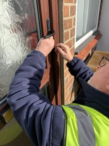 Mulley Locksmiths, helping a customer locked out in Bexhill